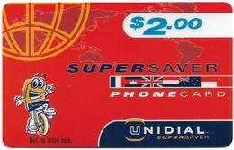 Australia - Unidial - Supersaver, Not For Retail Sale, Exp.31.12.2000, Remote Mem. 2$, Used - Australia