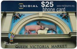 Australia - Unidial - Queen Victoria Market, Exp.30.06.2000, Remote Mem. 25$, Used - Australia