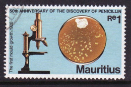 Mauritius 1978 Single Re1 Stamp To Celebrate Discovery Of Penicillin - Mauritius (1968-...)