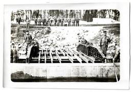 PHOTO CONSTRUCTION D ' Un Pont Flottant  Par Le Génie Militaire - Reggimenti