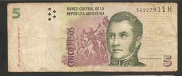 Argentina - Banconota Circolata Da 5 Pesos P-353c - 2013 #18 - Argentina