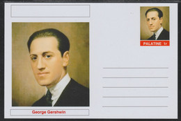 40749 Palatine (Fantasy) Personalities - George Gershwin (Composer) - Cartoline