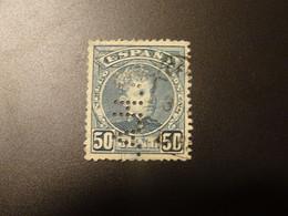 ESPAGNE   Perforé - 1889-1931 Reino: Alfonso XIII