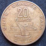 DJIBOUTI 20 Francs 1977 - Gibuti