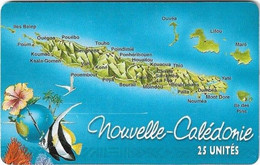 New Caledonia - OPT - Caledonia Puzzle 4/6, SC7, 01.1999, 25Units, 60.000ex, Used - New Caledonia