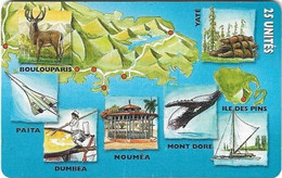 New Caledonia - OPT - Caledonia Puzzle 6/6, SC7, 05.1999, 25Units, 60.000ex, Used - New Caledonia