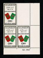 MAROC Parlement  Coin Daté XI - 1963    ** MNH  Gomme Intacte TTB - Marocco (1956-...)