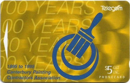 New Zealand - NZT (GPT) - Advertising Cards - 100 Years Canterbury Painting Contractors, 1995, 5$, 16.500ex, Used - Nuova Zelanda