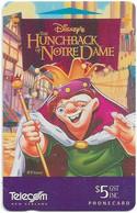 New Zealand - NZT (GPT) - Dealer Cards Onwards '92 - The Hunchback Of Dotre Dame, 1996, 5$, 5.500ex, Used - Nuova Zelanda