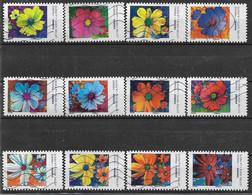 2020 FRANCE Adhesif Oblitérés, Fleurs Cosmos, Série Complète - Frankreich