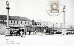 ESPANA -/postal Precursora/  CADIZ  <  VISTA ANIMADA DEL ENTRADA (Ed. HAUSER Y MENET) - Cádiz