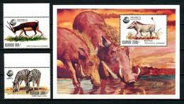 OUGANDA 1992 N° 954/955 Bloc 168 ** Neufs MNH Superbes C 15,50 € Faune Zèbre Sommet Planète Terre Animaux - Uganda (1962-...)