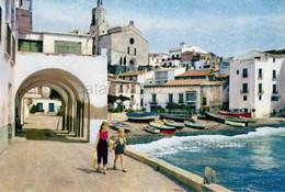 Cadaques , Años 50, Años 60,  Costa Brava , Mediterráneo, Barcas, Vintage Casas, Niños - Gerona