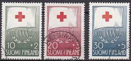 FI100 – FINLANDE – FINLAND – 1957 – RED CROSS FUND – SG 579/81 USED 9,75 € - Finlande