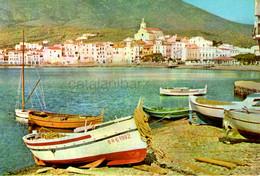 Cadaques , Años 50, 1961,  Costa Brava , Mediterráneo, Barcas, Vintage Casas, Iglesia - Gerona