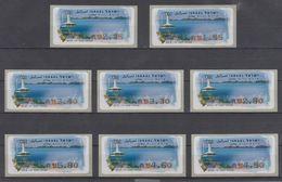ISRAEL 2007 KLUSSENDORF ATM EILAT UNDERWATER OBSERVATORY FULL SET OF 8 STAMPS - Affrancature Meccaniche/Frama