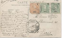 ANGOLA ( MALANGE ) Carte Postale Pour PARIS  ( 1908) - Angola