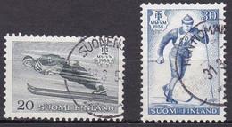 FI101Bis – FINLANDE – FINLAND – 1958 – WORLD SKI CHAMPIONSHIPS – SG 586/7 USED - Finlande