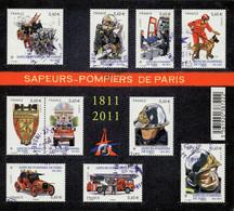 France Oblitération Cachet à Date BF N° F 4582 Soit 4582 à 4591- Métier. Brigade Des Sapeurs-pompiers - Sheetlets