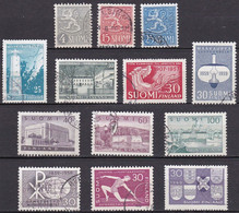 FI103 – FINLANDE – FINLAND – 1954-59 ISSUES – SG 527a-608 USED 10 € - Finlande