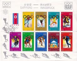 24T * NORDKOREA * KLEINBOGEN OLYMPIADE * GESTEMPELT **! - Corea Del Nord