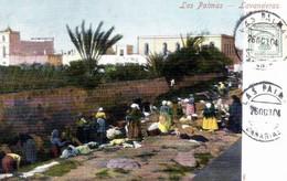 ESPANA - /postal Precursora/  LAS PALMAS <  LAVANDERAS - La Palma