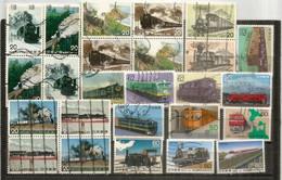 JAPON. Histoire Des Chemins De Fer Au Japon. Lot De 25 Timbres Oblitérés 1 ère Qualité, Tous Différents, Lot #  2 - 1989-... Imperatore Akihito (Periodo Heisei)