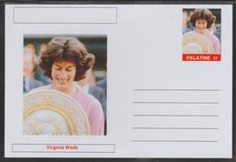 69207 Palatine (Fantasy) Personalities - Virginia Wade (tennis) - Cartoline