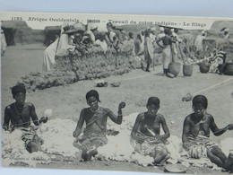 CPA - Soudan - Travail Du Coton Indigene - Le Filage - Sudan