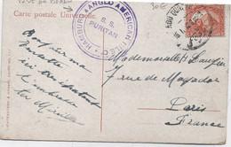 EGYPTE -Carte Postale  Postée à Bord Du SS.PURITAN  HAMBOURG& ANGLO AMERICAN NILE Cp , Bateau De Croisière Sur Le Nils - Egitto