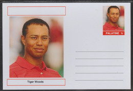 69215 Palatine (Fantasy) Personalities - Tiger Woods (golf) - Cartoline