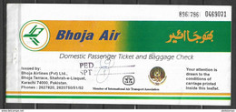 PAKISTAN, DOMESTIC AIR TICKET PRIVATE AIRLINE BHOJA AIR - Billets D'embarquement D'avion
