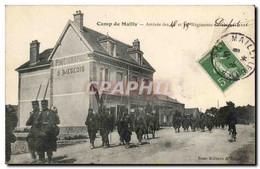 Militaria CAmp De Mailly CPA Arrivee Des 46 Et 89eme Regiments D&#39infanterie (Photographie S Liege - Regimientos