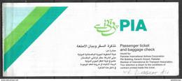 PAKISTAN, DOMESTIC AIR TICKET PAKISTAN INTERNATIONAL AIR LINE PIA - Billets D'embarquement D'avion