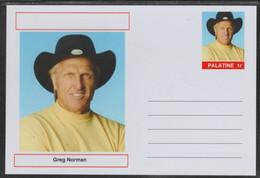 69221 Palatine (Fantasy) Personalities - Greg Norman (golf) - Cartoline