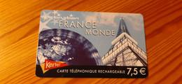Prepaid Phonecard France - Kertel, Eiffel Tower - Frankreich