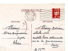 E 5 1943 Entier Pétain Pour Prison Allemande A Nice - Guerra Del 1939-45