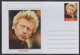 69230 Palatine (Fantasy) Personalities - Boris Becker (tennis) - Cartoline