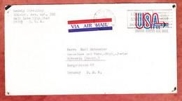Luftpost, Airmail, Salt Lake City Nach Schwerin 1970 (97563) - Stati Uniti