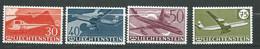 Lichtenstein - Aérien Série Yvert N° 34 à 37 ** 4 Valaurs Neuves Sans Charnière  - Ay 16702 - Air Post