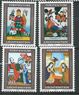 Liechtenstein   Série     Yvert N° 558   à  561  **,  4  Valeurs Neuves Sans Charnière  -  Ay 16806 - Official