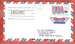Luftpost, Airmail, Milwaukee Nach Schwerin 1970 (97565) - Stati Uniti