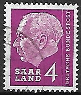 SARRE   -    1957.   Y&T N° 365 Oblitéré.   Président  Heuss. - Usati