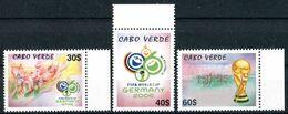 """CAP VERT / CABO VERDE   2006  MNH  -  """" WORLD CUP FOOTBALL """"  -  3 VAL. - Kap Verde"""