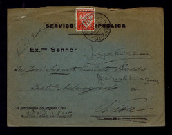 At Republic Service Date (pmk 9-11-1931) VILA VELHA DE RODÂO To NIZA (10-11-1931) PORTUGAL Gc5101 - 1910-... République