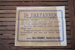 1920' Haaltert Aalst Affiche Reklame Dakpannen Omer Desmet - Posters