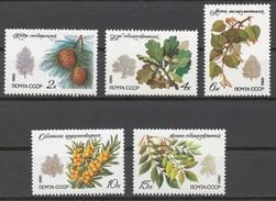 USSR 1980 Sol# 5120-24** TREES AND SHRUBS - Ongebruikt