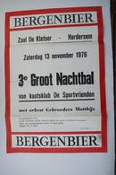 1976 Bergenbier Affiche Herdersem - Posters