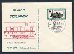 DDR Germany 1978 Brief Cover - 15 Jahre TOUREX - MITROPA - Rollendes Hotel - Fahrbetrieb Dresden - Trains