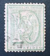 1872 URUGUAY Cifra 10 C. Coat Of Arms Escudo Used Yvert 36 - Uruguay